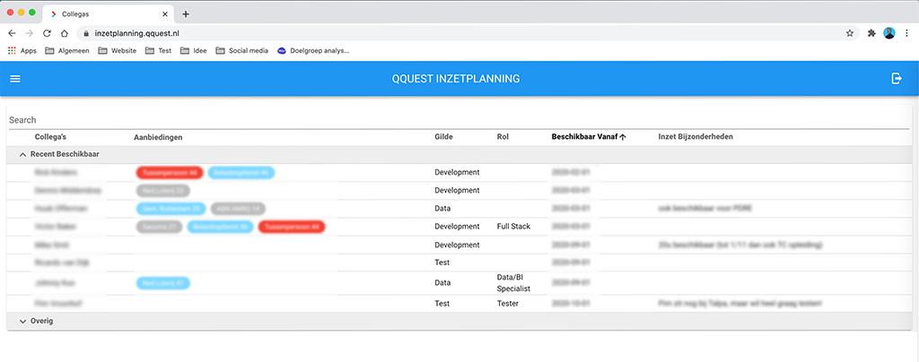Inzetplanning-Qquest