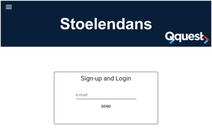 Stoelendans-inlogpagina